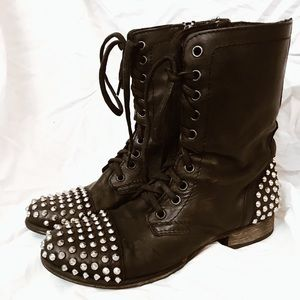 Terney Studded Combat Boots!